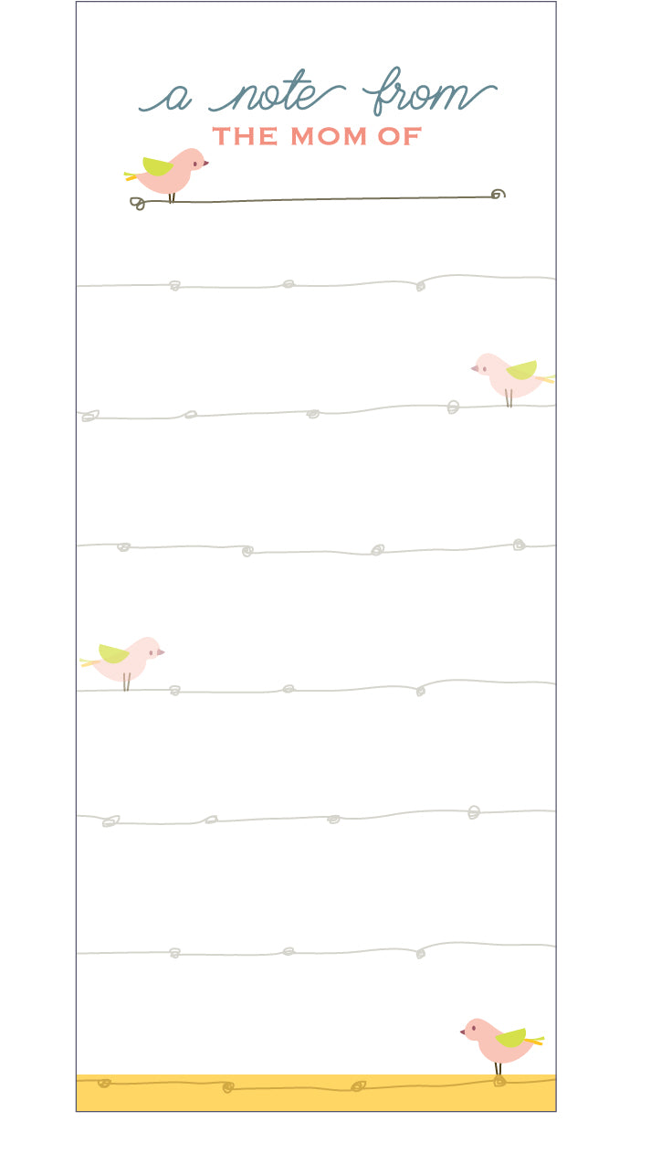 Birdie Mom Notepad (4 units)