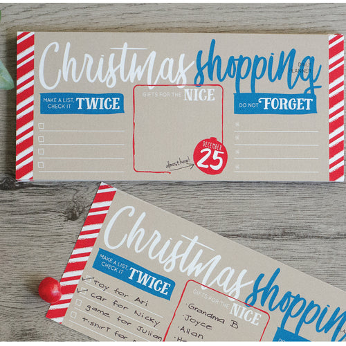 Christmas Shopping Notepad (4 units)