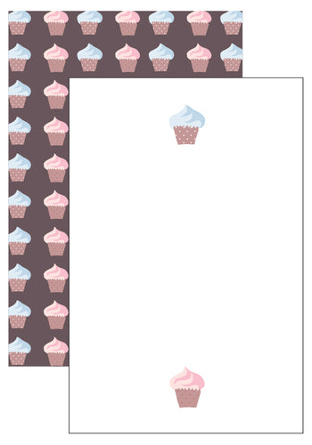 Cupcake Stationery Set (6 sets)