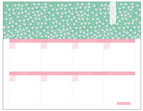 Flower Weekly Planner (4 units)