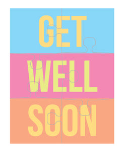 Get Well Soon Puzzle Card (set of 6)