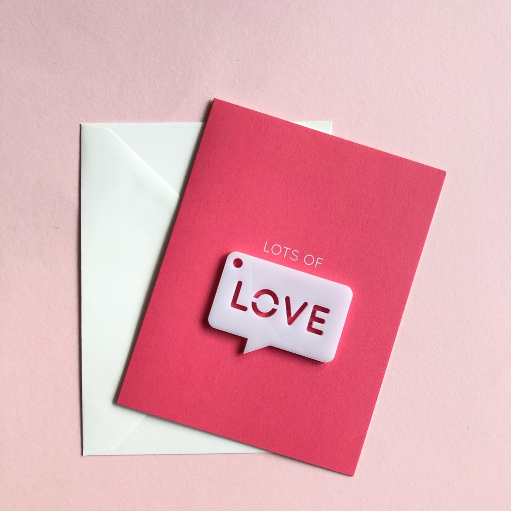 lots of love charm card