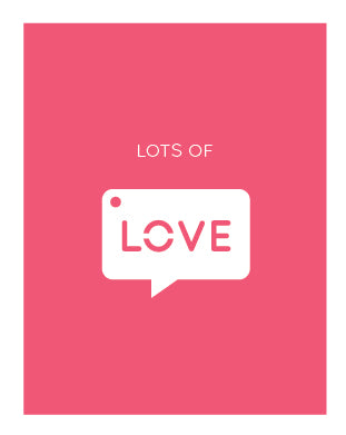 Lots of Love Charm Card (6 units)