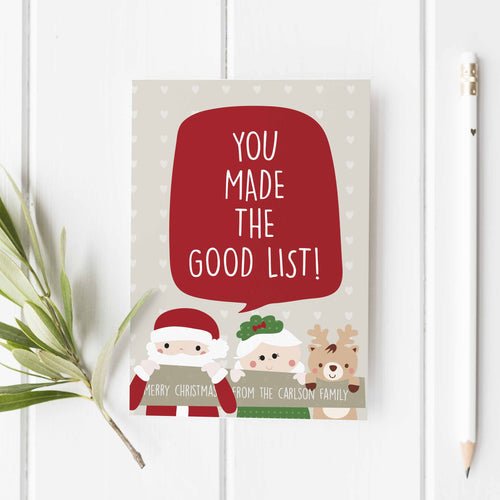Good List Greeting Card (6)