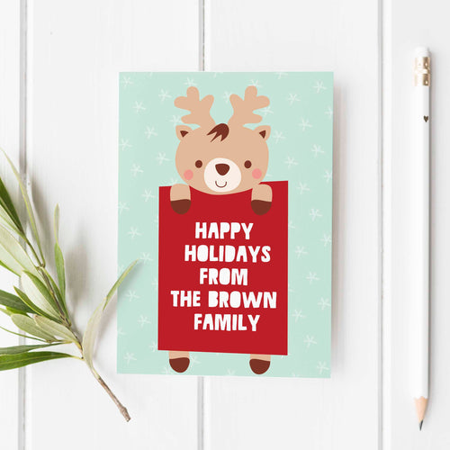 Reindeer Greeting Card (6)