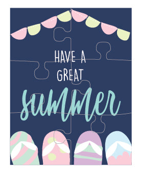 Summer Puzzle Card (set of 6)