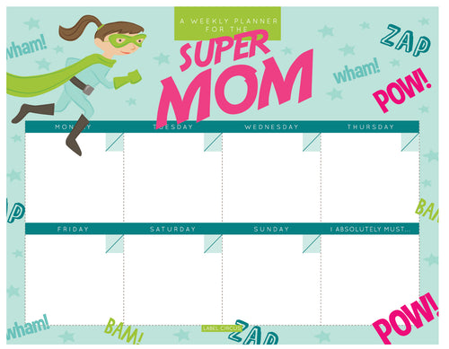 Super Mom Weekly Planner (4 units)