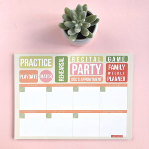 Family Weekly Planner (4 units)