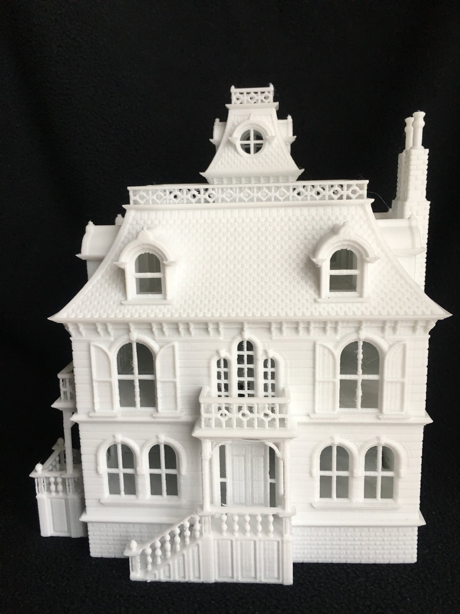 Miniature Ho Scale Victorian Mansion French Empire House