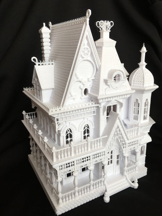Miniature 'Nob Hill' Victorian Gothic House HO Gauge Scale 1:87 Built Ready