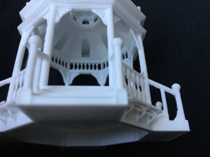 White Detailed Miniature Gazebo Victorian Bandstand 1:87 or HO Scale