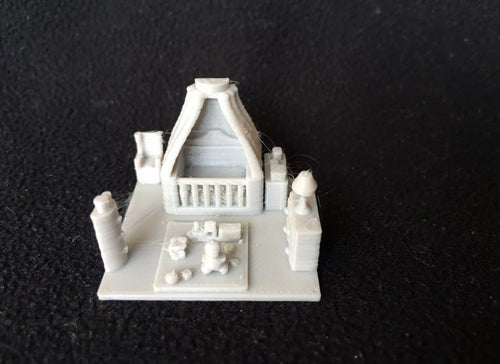 HO Scale Miniature Baby's Room Insert including crib, play area with detailed toys and dresser