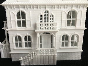 Miniature HO Scale Victorian Mansion French Empire House Architecture