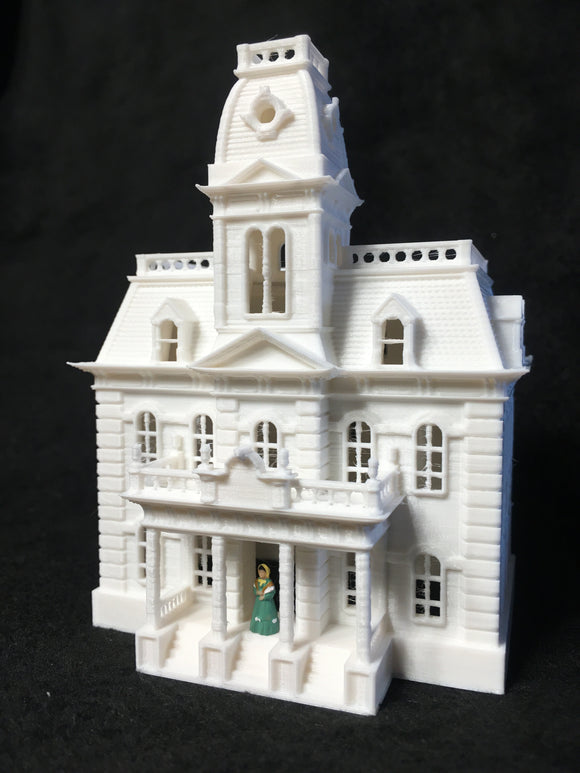 Gold Rush Bay HO-Scale Miniature Victorian19 CITY HALL Assembled White 1:87