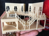 Gold Rush Bay N-Scale Wood Color Miniature Saloon Hotel 1:160 Built w/ INTERIORS
