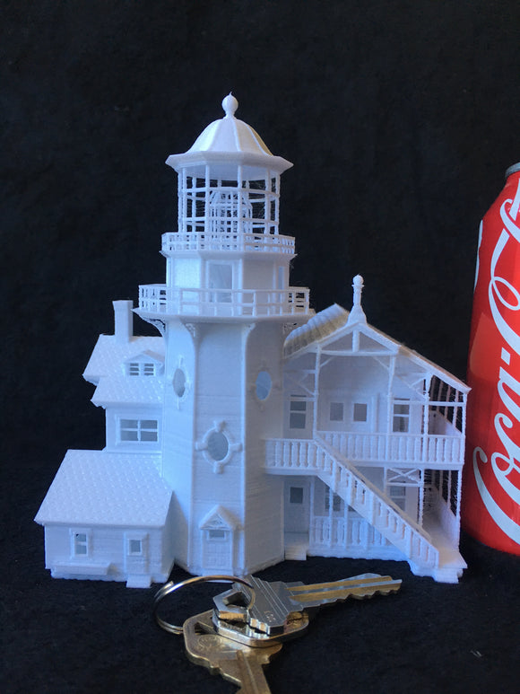 N-Scale Miniature Victorian #9 Lighthouse Train Layout w/ Interiors Included (lighting not included)
