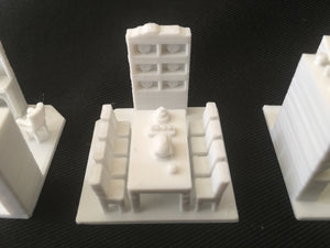 Paintable Miniature House Interior Set (5 White Rooms) - Fits Gold Rush Bay Victorian models