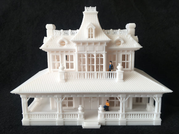 HO-Scale Miniature #15 Petticoat Hotel 1:87 Scale Built Assembled