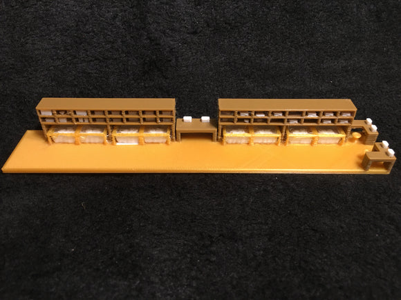 COLOR HO Scale Athearn Heavyweight Business Dining Car Interior 60' Pullman