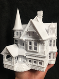 Gold Rush Bay HO-Scale Victorian Miniature #16 Sir George Mansion 1:87 Including Interiors