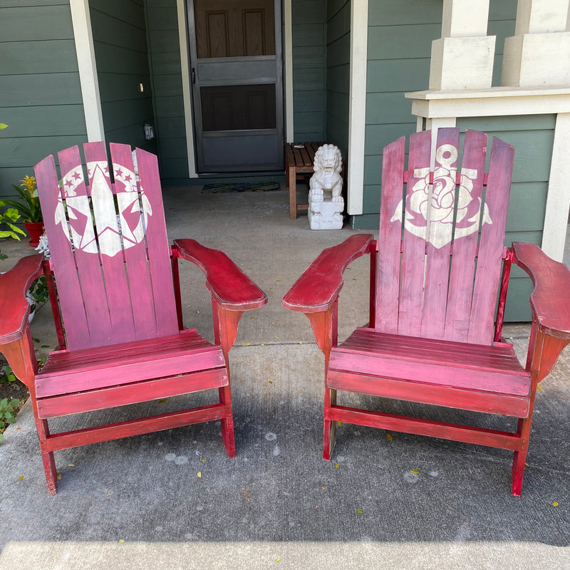 Custom Painted Adirondack Chairs - Quarantine Project