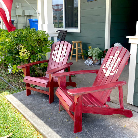 painted Adirondack chairs by modern rosie