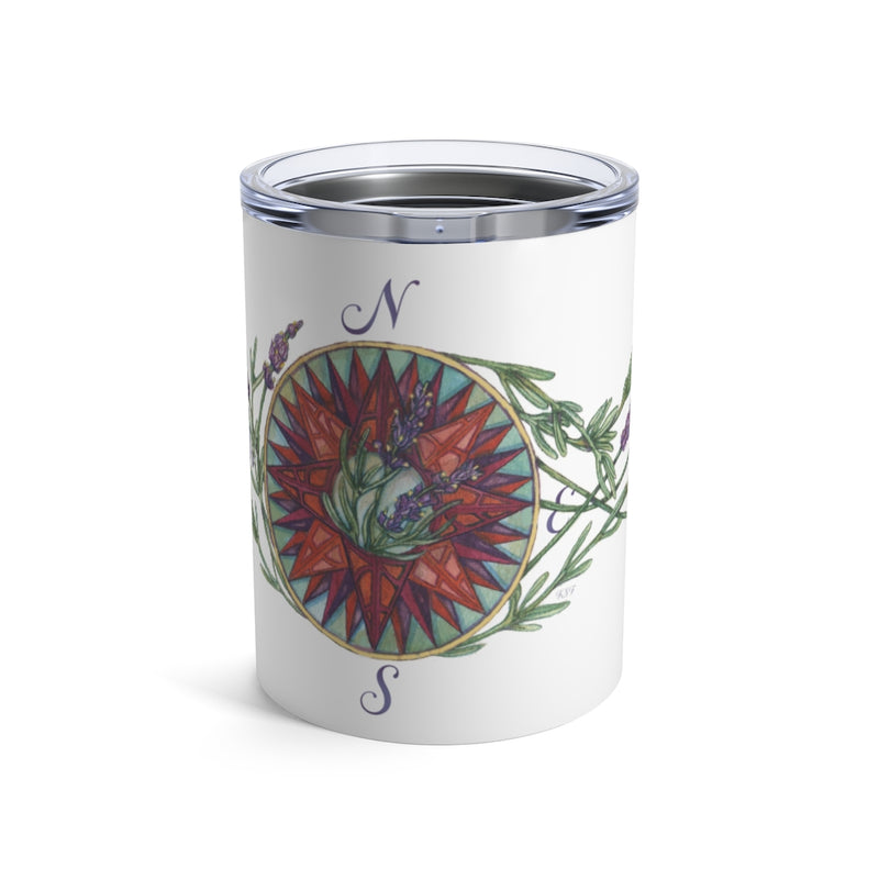 Blooming Compass: West Coast Lavender - Wine Tumbler
