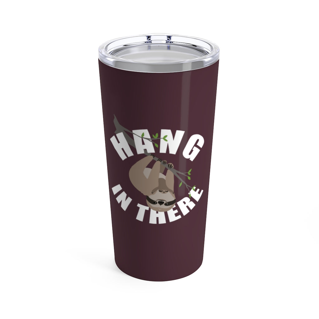 Hang in There Sloth Beverage Tumbler