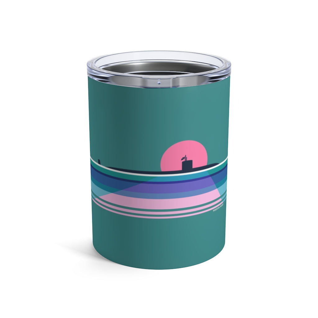 Moonlit Submarine - Wine Tumbler