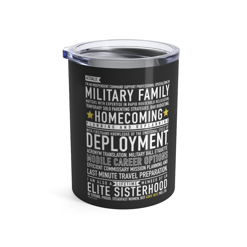 Army Wife Will Do - Wine Tumbler (gray)