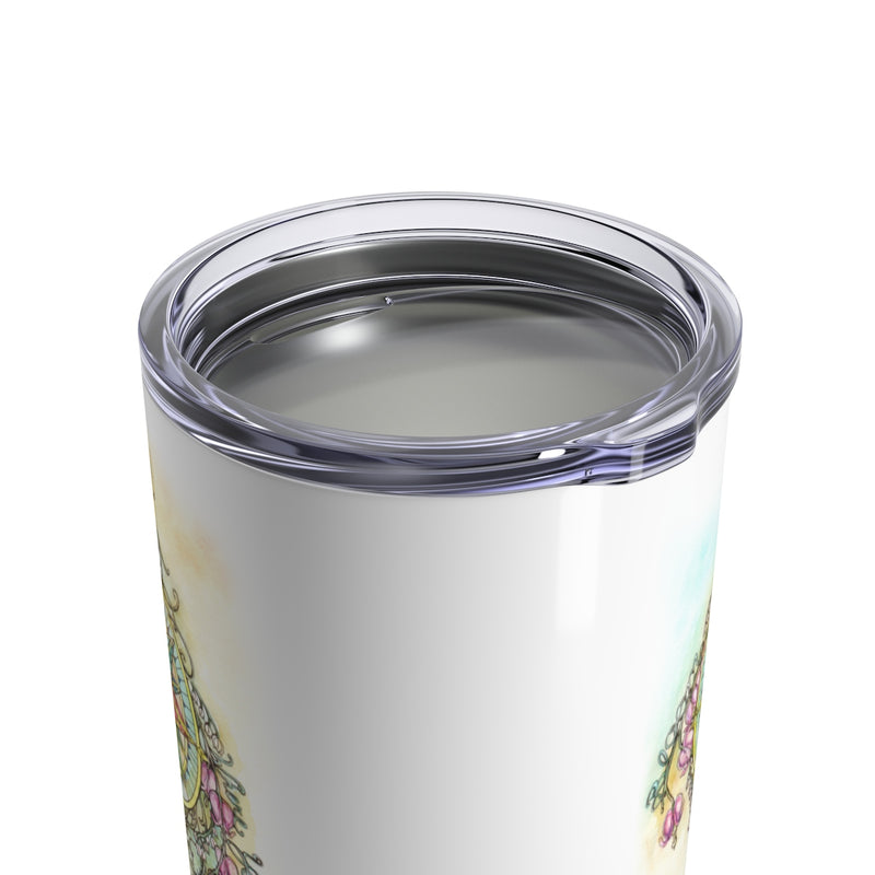 Floral Compass : Bloom Where You Are Planted - Wine Tumbler