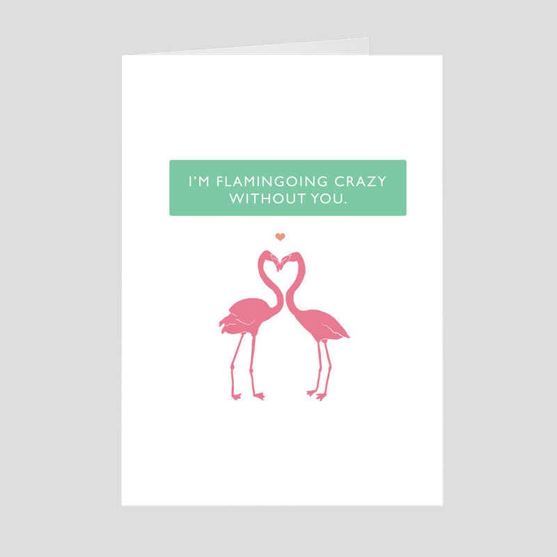 I Flamingoing Crazy - 5x7 Folded Card