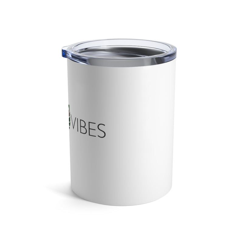 Vino Vibes -  Wine Tumbler in white