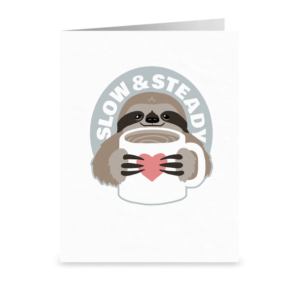 Slow and Steady Sloth Cards from Modern Rosie