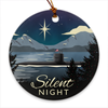 Silent Night Porcelain Submarine Christmas Ornament