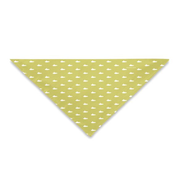 Tiny Subs (Gold) Dog Bandana