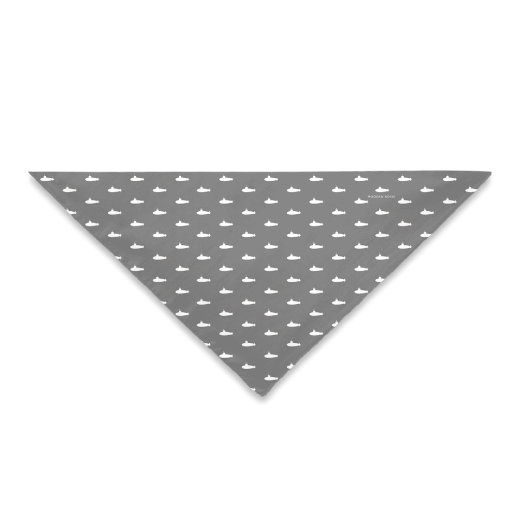 Tiny Subs (Gray) Dog Bandana