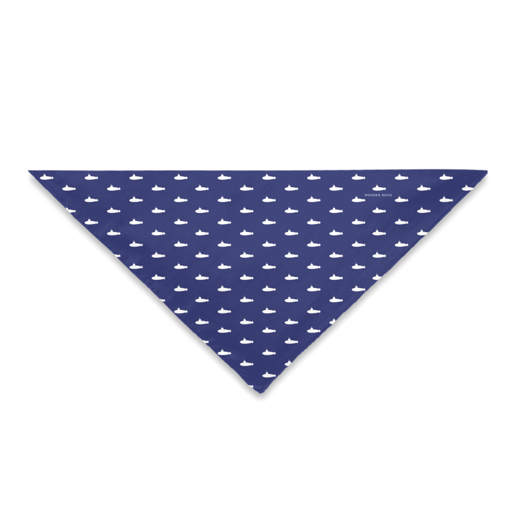 Tiny Subs (Navy Blue) Dog Bandana