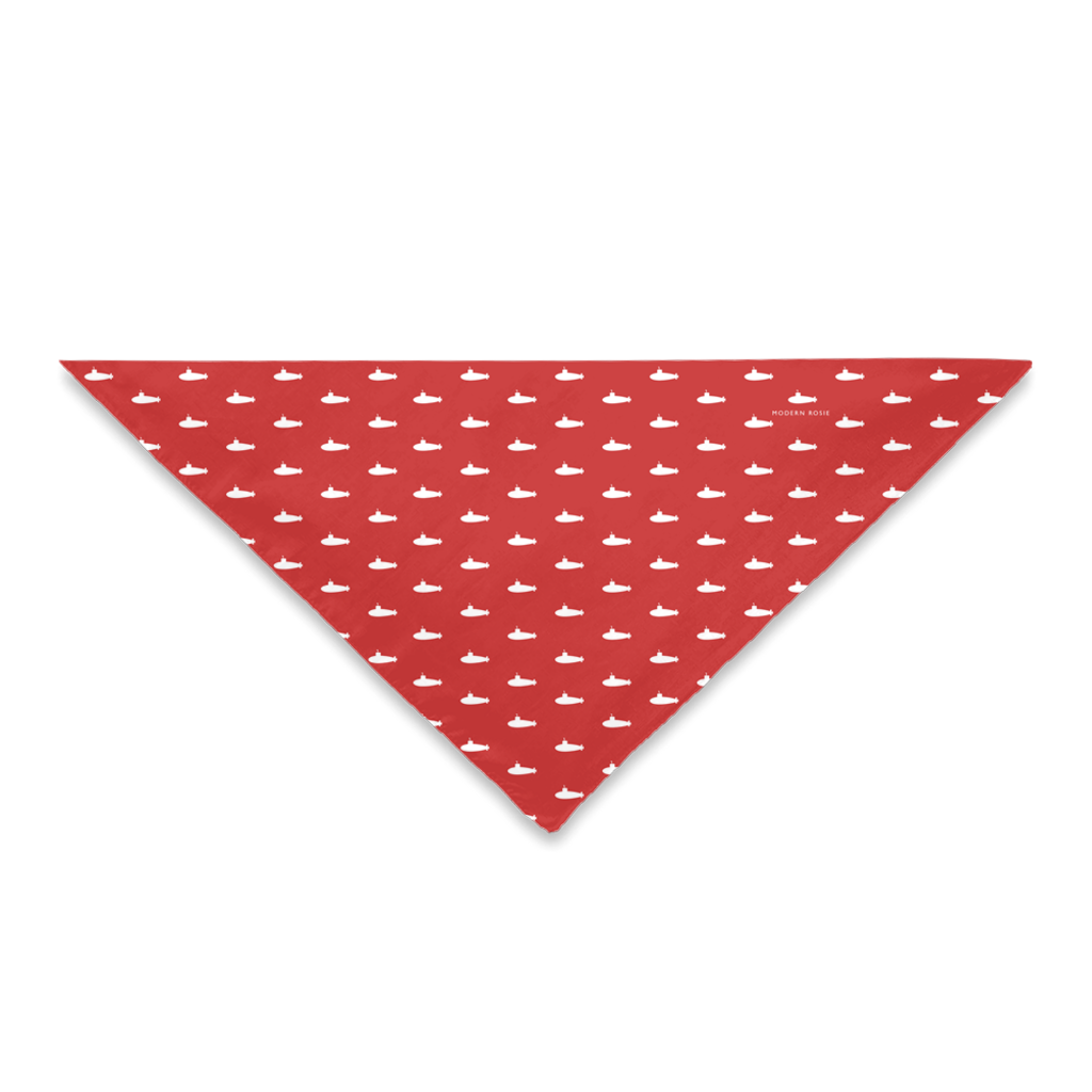 Tiny Subs (Red) Dog Bandana