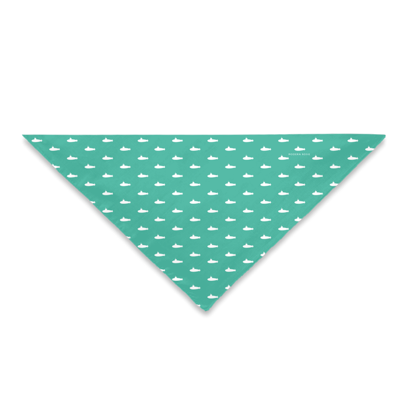 Tiny Subs (Teal) Dog Bandana