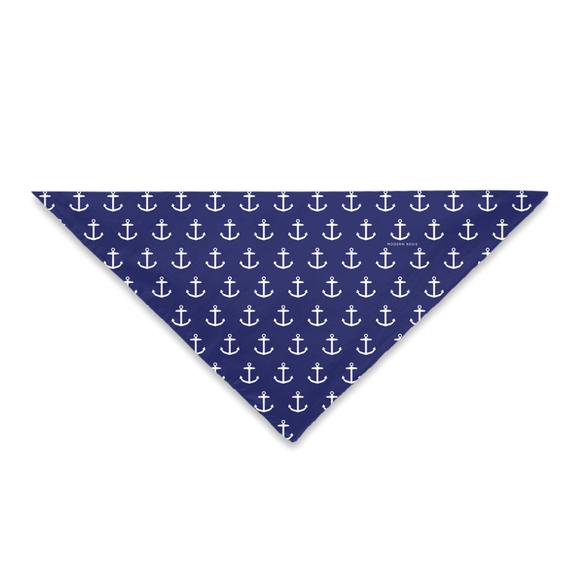 Anchors (Navy Blue) Dog Bandana