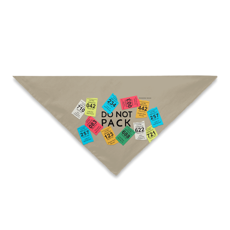 Don't Pack the Dog! - PCS Dog Bandana
