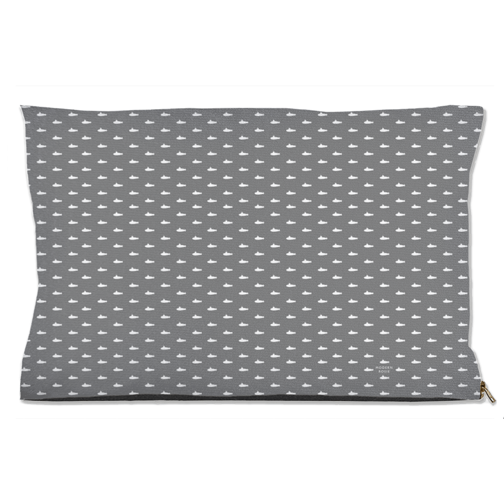 Tiny Submarines (Gray) Dog Bed