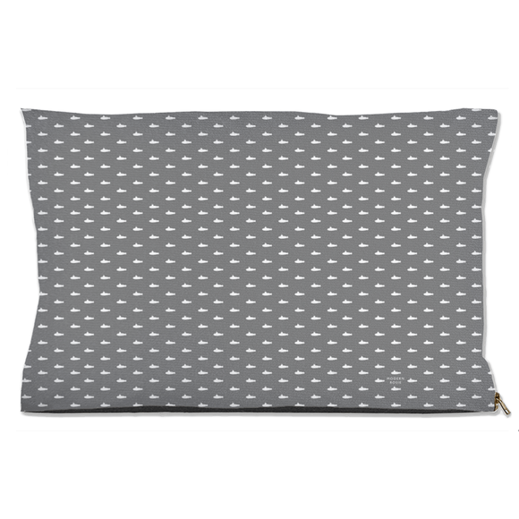 Tiny Submarines (Gray) Dog Bed from Modern Rosie