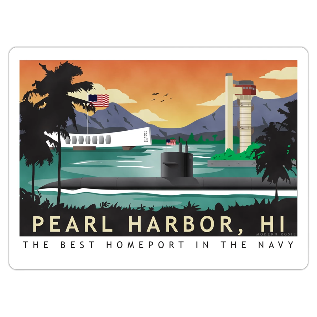 Pearl Harbor Submarine Magnet
