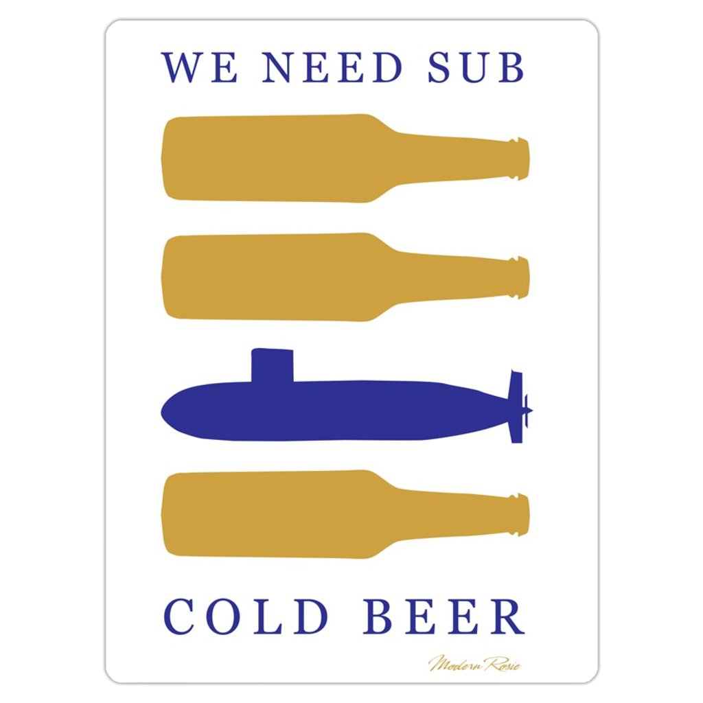 Sub Cold Beer Magnet