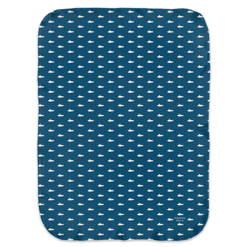 Tiny Subs (Navy) Swaddle Blanket