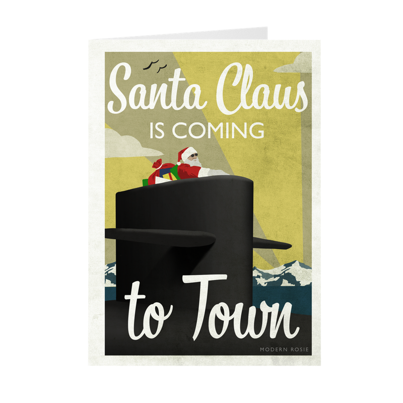 Submarine Santa Christmas Cards
