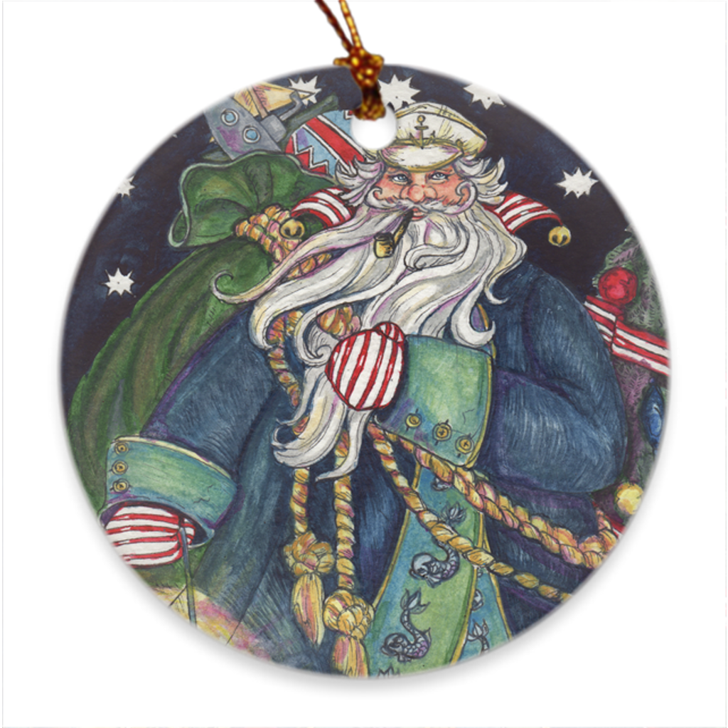 Salty Santa Christmas Ornament
