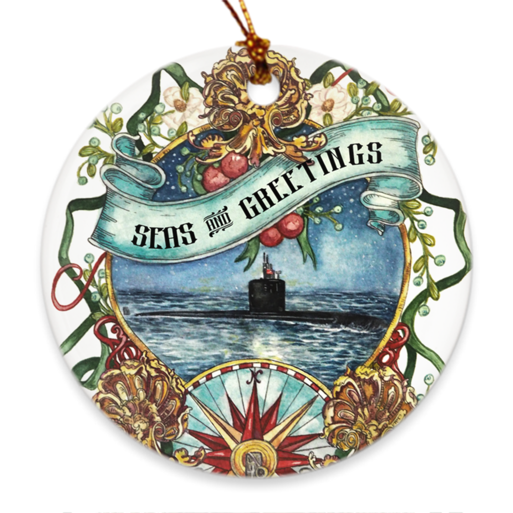Submarine Seas & Greetings Ornament